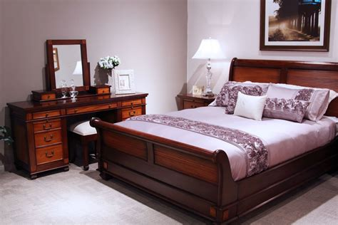 chelmsford mahogany  piece tallboy bedroom suite