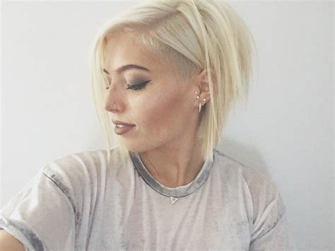 blonde bob undercut blonde hair with undercut fashion pinterest short