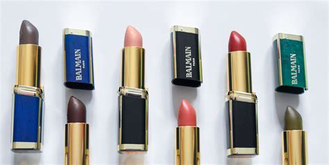 Loreal Balmain balmain x l oreal lipstick collaboration review
