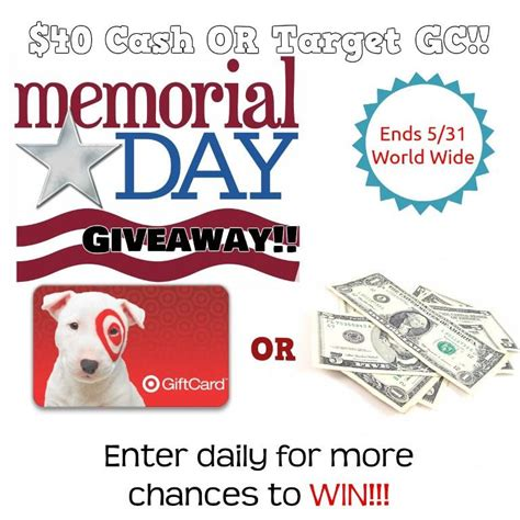 How To Win Money Fast For Free - memorial day weekend cash flash win 40 cash or target gift card it s free at last