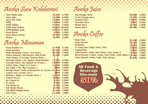 design menu cafe unik ngipok cafe kafe kopi malang ngipok cafe kafe kopi
