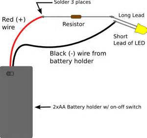 how to wire lights to a battery basics picking resistors for leds evil mad scientist