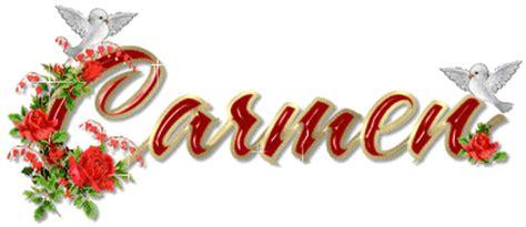 imagenes de el nombre carmen latina vestigia carmen