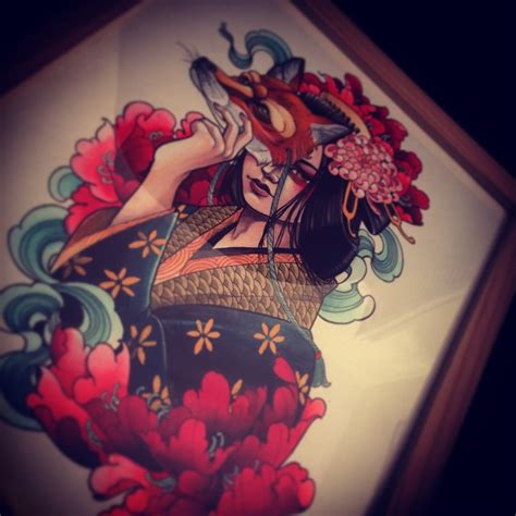 tattoo girl with mask fox mask girl tattoo idea best tattoo ideas gallery