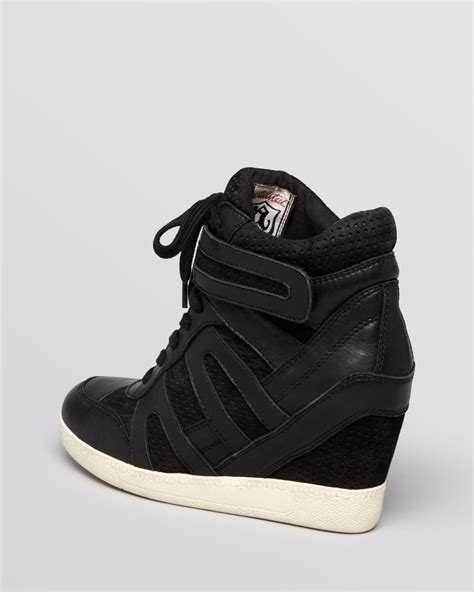wedge sneakers ash lace up wedge sneakers beck bis in black lyst