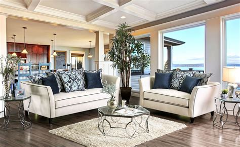 chantal white living room set from furniture of