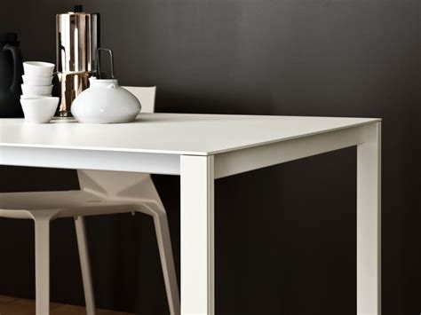 thin table buy the kristalia thin k aluminium table at nest co uk