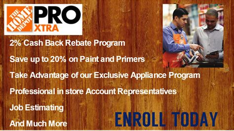 enroll in the home depot rebate program with mrei