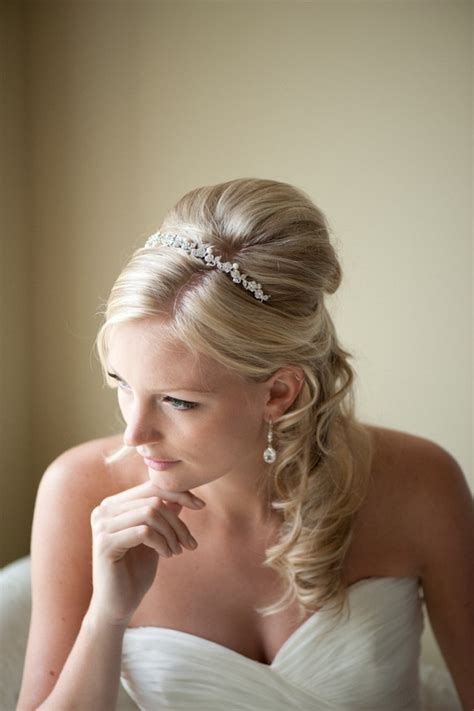Bridal Headband, Tiara, Freshwater Pearl And Crystal