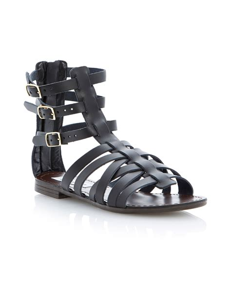 ankle gladiator sandals steve madden plato ankle gladiator sandals in black lyst
