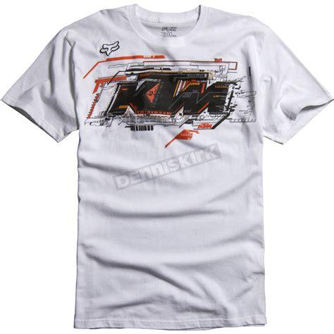 T Shirt Ktm Racing White fox white ktm layout t shirt 07383 008 s atv dirt