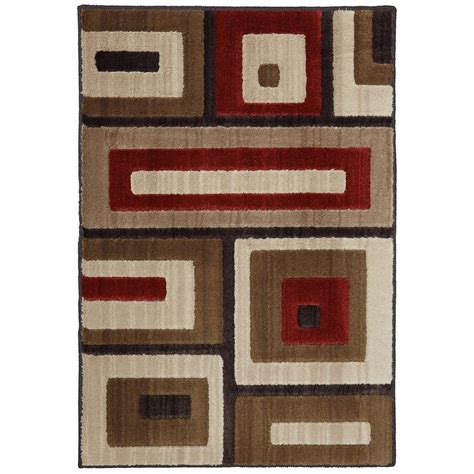 home depot accent rugs mohawk home modern blocks light beige 2 ft x 3 ft accent
