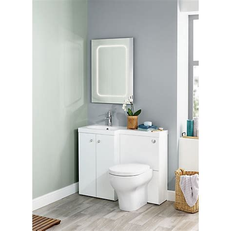 wickes bathrooms uk wickes l shaped vanity unit and basin lh wickes co uk