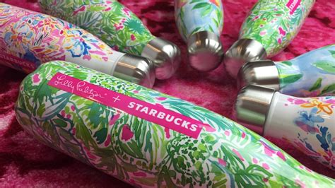 lilly starbucks lilly pulitzer starbucks s well water bottle collab