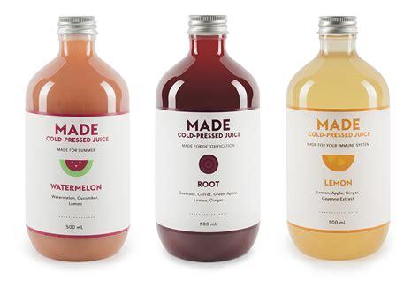 Kombucha Detox Thc by Made Juice The Dieline Packaging Branding Design