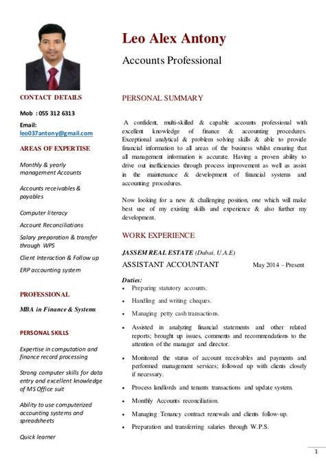Dubai Resume Mba Finance Dubai Cv