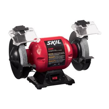 skil 3380 bench grinder factory reconditioned skil 3380 01 rt 6 in bench grinder