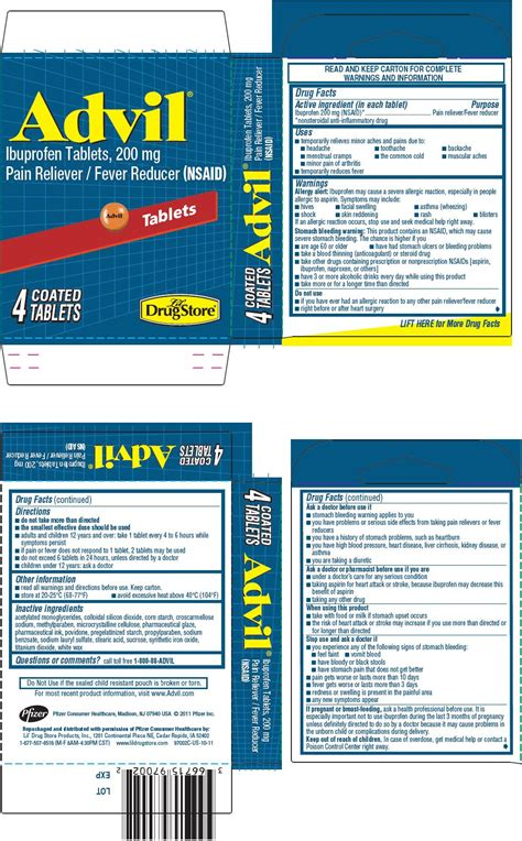 ibuprofen side effects in detail drugscom advil tablet coated lil drug store products inc