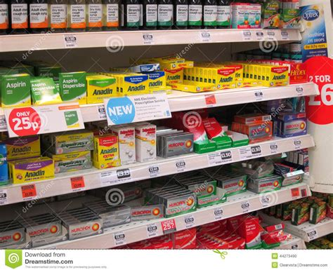 Ibuprofen Shelf by Killers On A Superstore Shelf Editorial Image