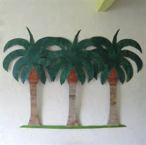 crafted handmade upcycled metal large palm tree