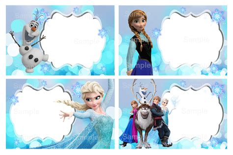 10 best images of frozen free printable label templates