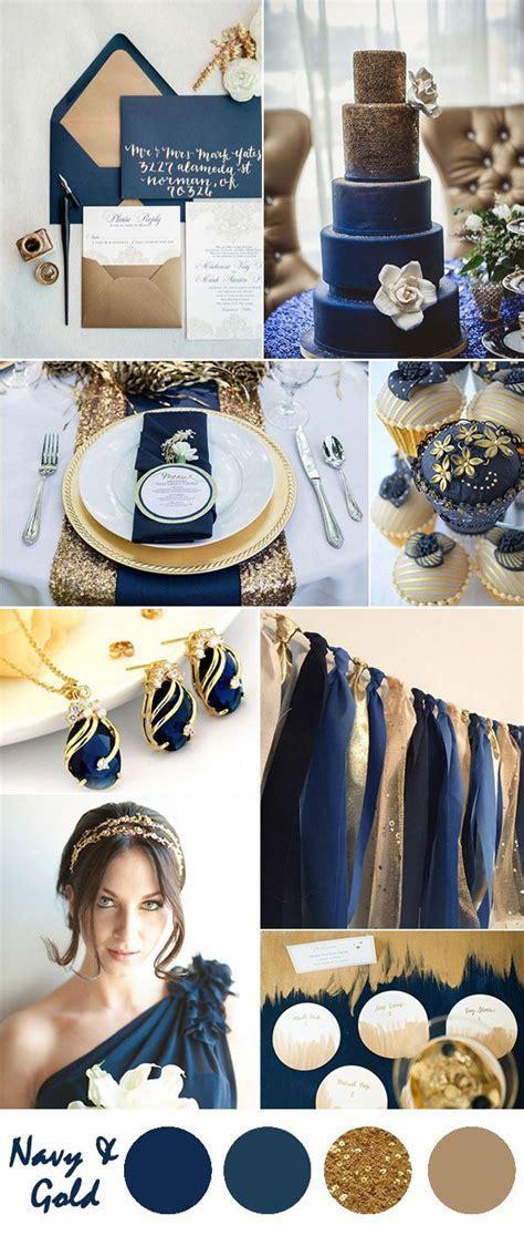 Ten Most Gorgeous Navy Blue Wedding Color Palette Ideas