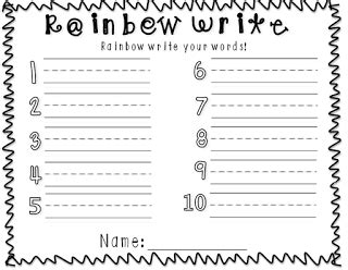 rainbow writing spelling words template 13 best images of rainbow spelling worksheet printable