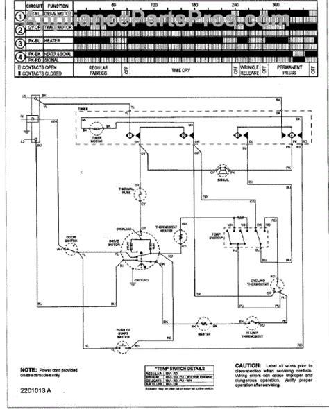 amana dryer wiring diagram parts for amana nde2330azw wiring information series 12 parts appliancepartspros