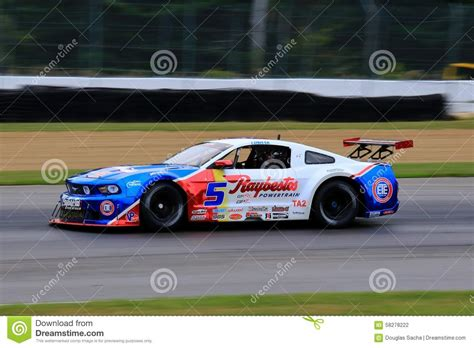 ford racing car pro ford mustang race car on the course editorial