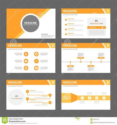marketing leaflet template orange multipurpose brochure flyer leaflet template flat