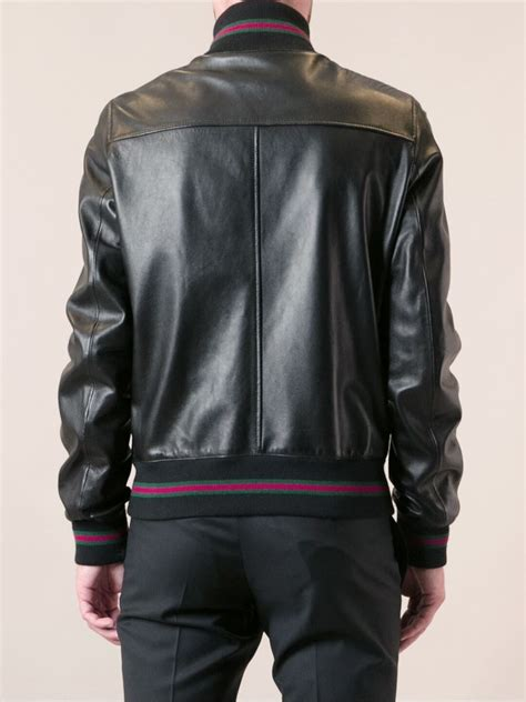 Jaket Gucci 2 gucci bomber jacket in black for lyst