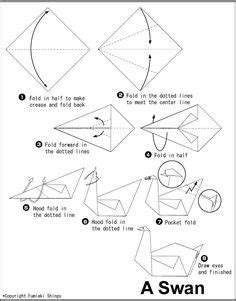 How To Make A Paper Swan - image gallery origami swan