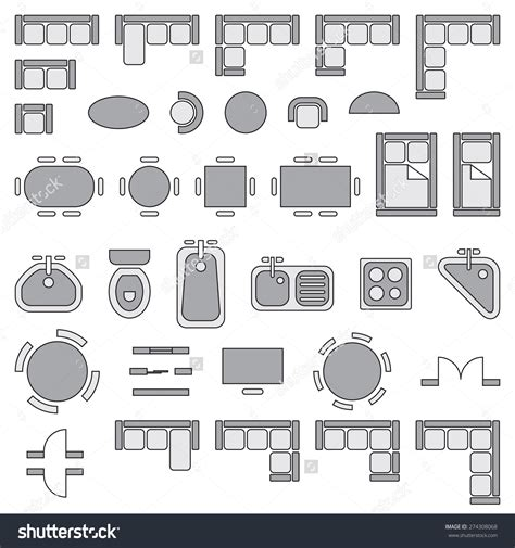 furniture icons for floor plans free architectural drawing symbols