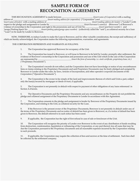 Ny Commitment Letter The Aztec Recognition Agreement Nyc Estate New York City Real Estate