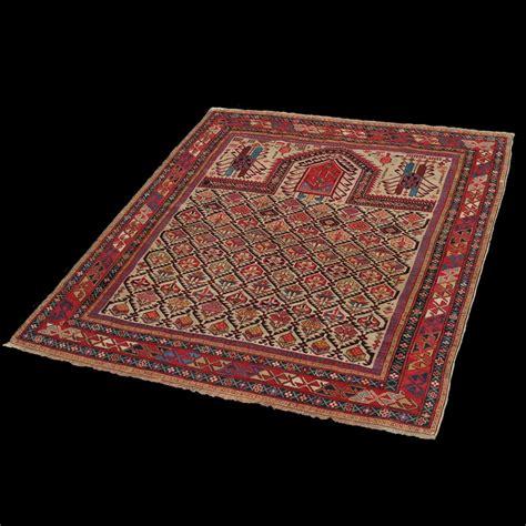 tappeto preghiera tappeto a preghiera caucasico antico shirvan daghestan