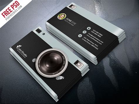 photographer id card template photography business card template free psd psdfreebies