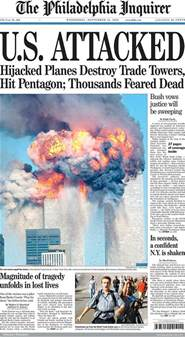9 11 History Essay by Looking Back Newspaper Front Pages Covering 9 11