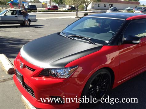 carbon fiber scion tc invisible edge vehicle wraps