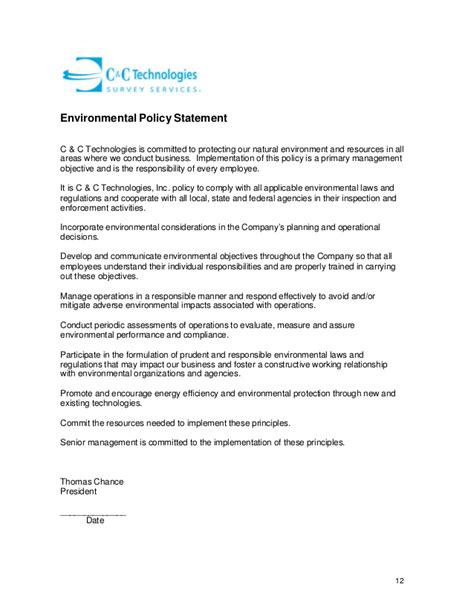 Safety Commitment Letter Exles Hse 6 Revision 2