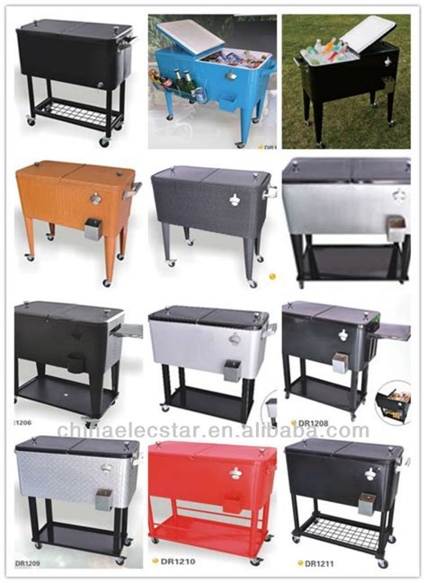 stainless steel beverage cooler cart stainless steel patio ice cooler beverage cart suitable