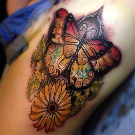 tattoo butterfly colours butterfly tattoos pinterest