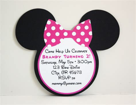 minnie mouse invitation template 5m creations minnie mouse line pink black