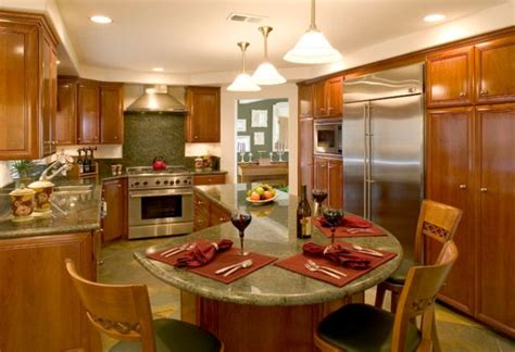 30 Kitchen Islands With Tables A Simple But Very Clever Combo Kitchen Table Island Ideas