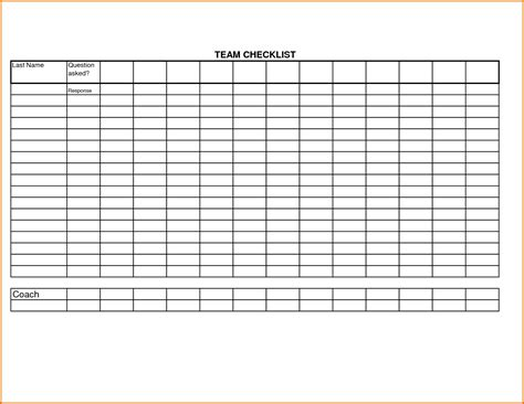 blank list template 8 blank checklist templatereference letters words