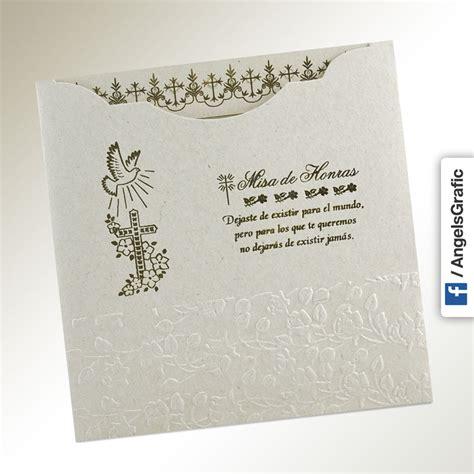 diseos de tarjetas para invitacin de misa de difuntos invitaci 243 n para misa de honras hr 56870 angels graphic