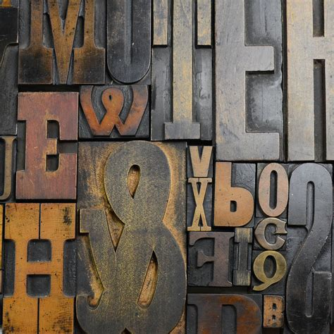 wooden block letters vintage letterpress printers blocks large by home 1723