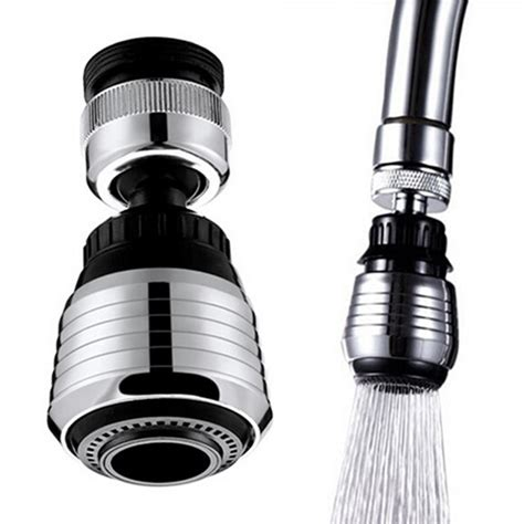 New 360 Rotate Kitchen Faucet Adapter Spray Water Purifier Saving Tap Head Replacement Faucet
