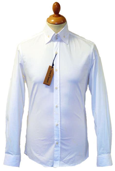 simon simon retro  mod high collar button  shirt