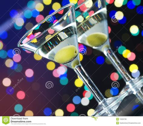 martini two two olive martini cocktails stock photography