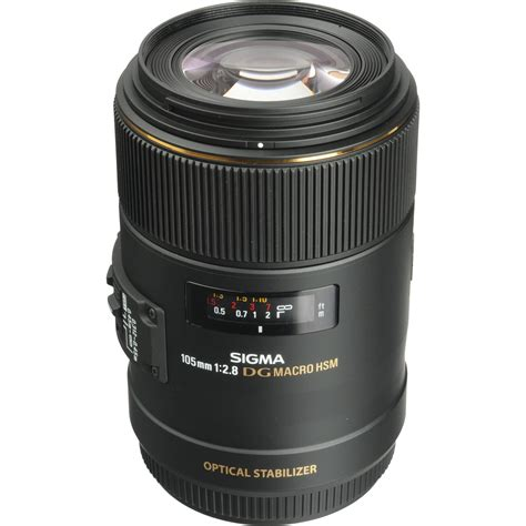 Sigma Lens For Canon Sigma 105mm F 2 8 Ex Dg Os Hsm Macro Lens For Canon Eos 258101